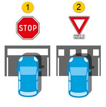 """des lignes """"stop"""" et """"cédez le passage"""""""