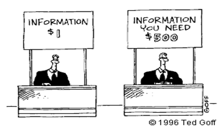 Information vs Information You Need