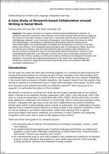Social Work Case Study Examples Uk Troubled Families Case Studies