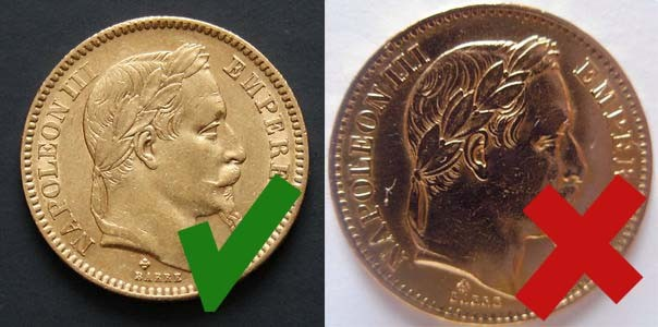 20 francs francais en or