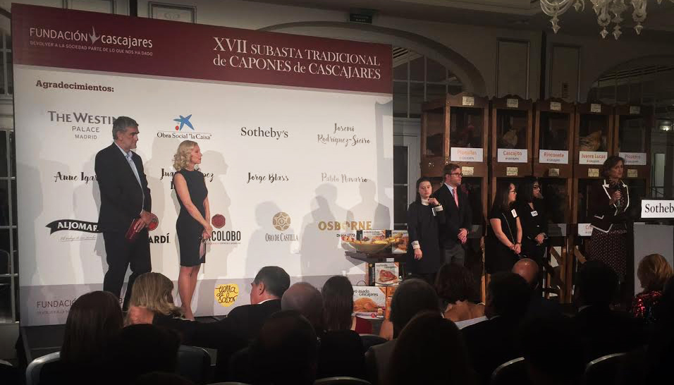 Un año más, Oro de Castilla en la Subasta benéfica de Capones de Cascajares