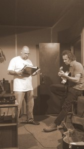 Orphan Jon and Bruce working on a few arrangements and song changes.