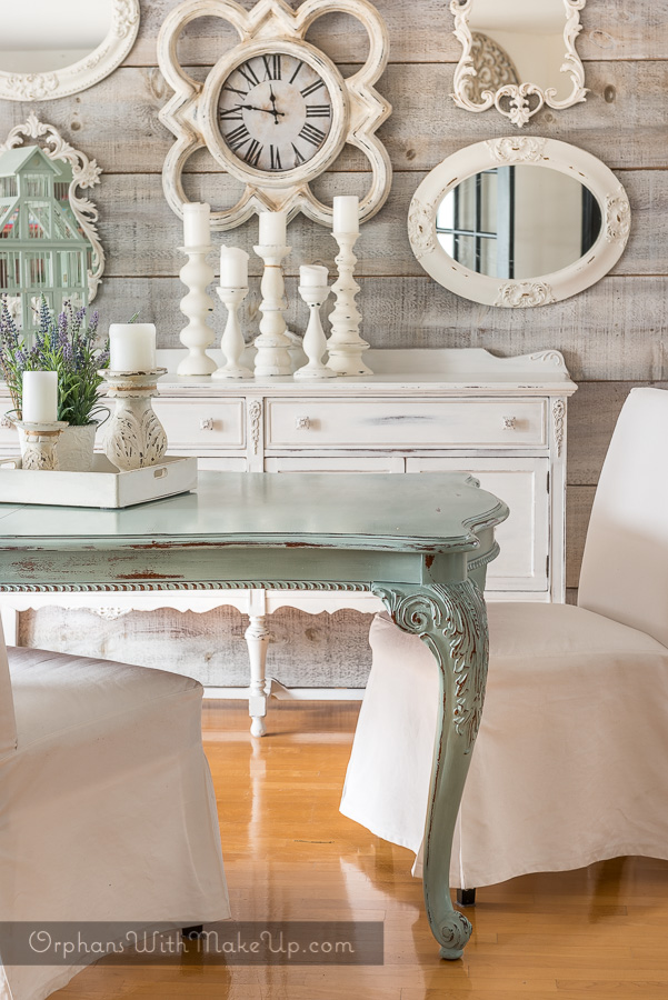 Dining table as the focal point orphans with makeup for Duck egg dining room ideas