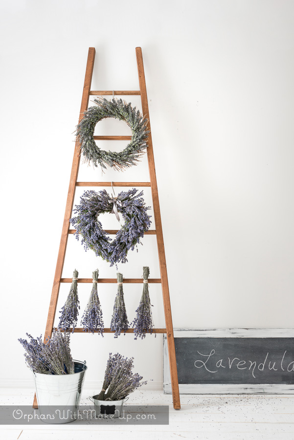 Easy Build Decorative Ladders & Lavender