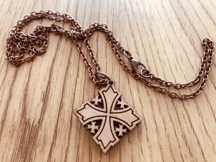 Souvenirs from around the world - Cross made of olive tree wood from Jerusalem