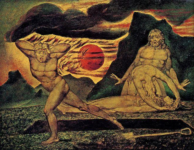 Le meurtre d'Abel (par William Blake)