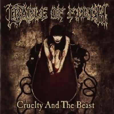 """Pochette de """"Cruelty and the beast"""", un album du groupe de black metal """"Cradle of filth"""". Tout le disque est construit sur le mythe de la comtesse Elisabeth Bathory"""