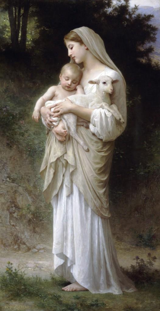 L'innocence; Bouguereau (Source : Wikimedia Commons)
