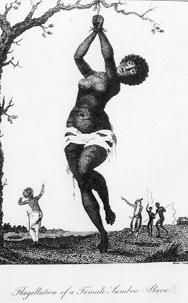 """Flagellation of a Female Samboe Slave"", 1796 William Blake. (Source : Wikimedia Commons)"