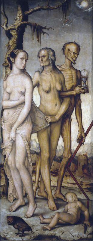 The Three Ages of Man and Death par Hans Baldung [Public domain], via Wikimedia Commons