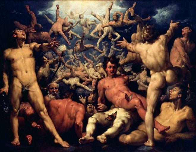 La Chute des Titans, par Cornelis Cornelisz van Haarlem [Public domain], via Wikimedia Commons, 1588, Statens Museum for Kunst (Copenhague)