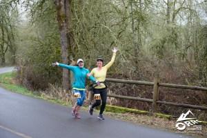 Two runners doing Champoeg