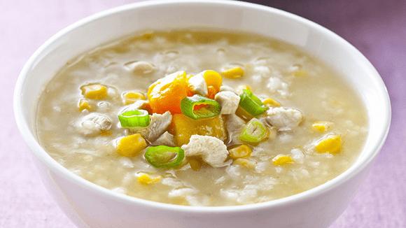 雞蓉玉米地瓜粥