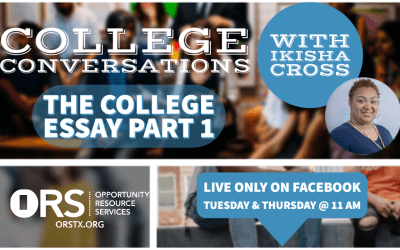College Conversations Episode 8: College Essays Part 1