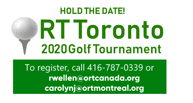 ORT 2020 golf Tournament - Hold the date