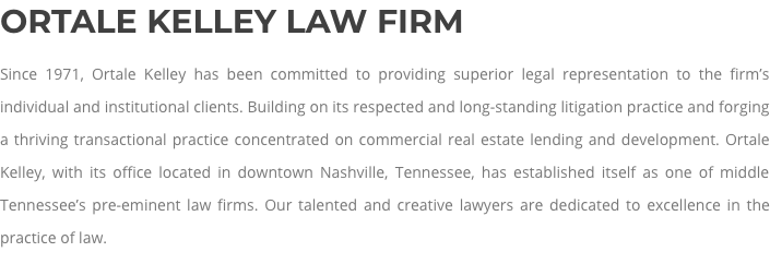 Commercial Real Estate Lawyer Chattanooga, TN