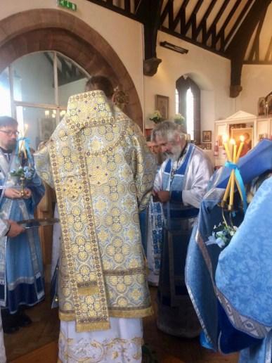 Archpriest Paul Elliott is awarded the palitsa.