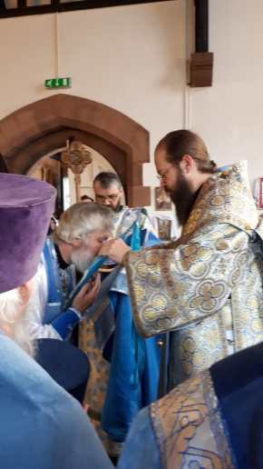 Archpriest Paul is awarded the palitsa.
