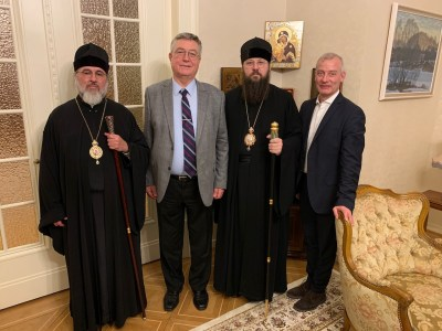 Bishop Irenei and Bishop Alexander meet with the Russian Ambassador to Switzerland, November 2019