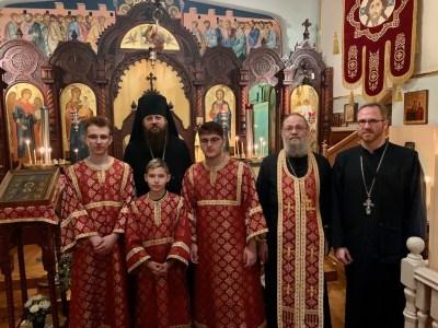 Bishop Irenei with the rector of the Resurrection Parish, Brussels, Archpriest Stefan Weerts