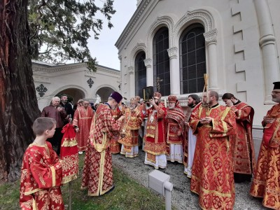 The Cross Procession at the conclusion of the Altar Feast