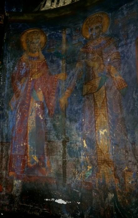XVII wieczne freski w cerkwi monasteru Święty Roman w Serbii