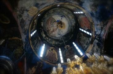 Kopuła cerkwi monasteru Święty Roman w Serbii