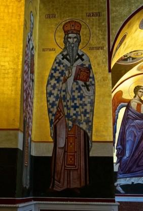 Ikona św. Bazylego Ostrożskiego (fresk)