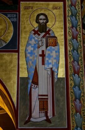 Ikona św. Sawy (fresk)