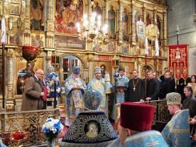 Wręczanie nagród po zakończeniu Boskiej Liturgii
