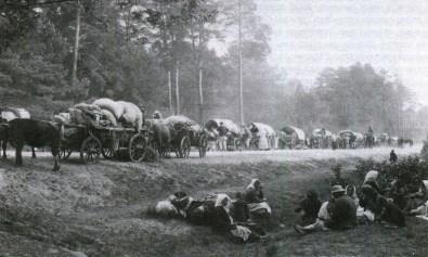 Bieżeńcy na trakcie włodawskim - 1915 r.