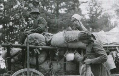 Bieżeńcy na trakcie włodawskim - 1915 r.Bieżeńcy na trakcie włodawskim - 1915 r.