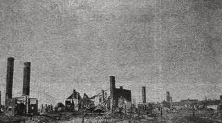Zgliszcza Włodawy - 1915 r.