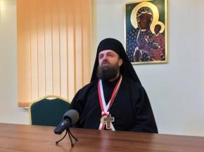 Serbski Archimandryta Stefan Šarić prowadzi wykład w ramach Bractwa CiM