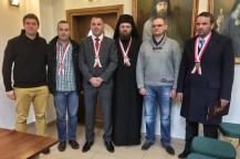 Archimandrytą Stefan Šarić z grupą swoich pielgrzymów z Serbii
