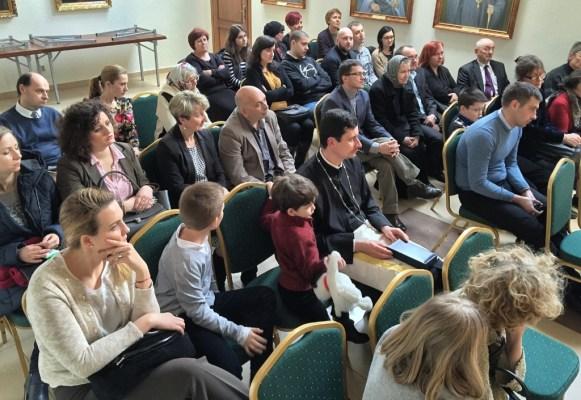 Licznie zgromadzone audytorium wykładu Arch. Dumitru