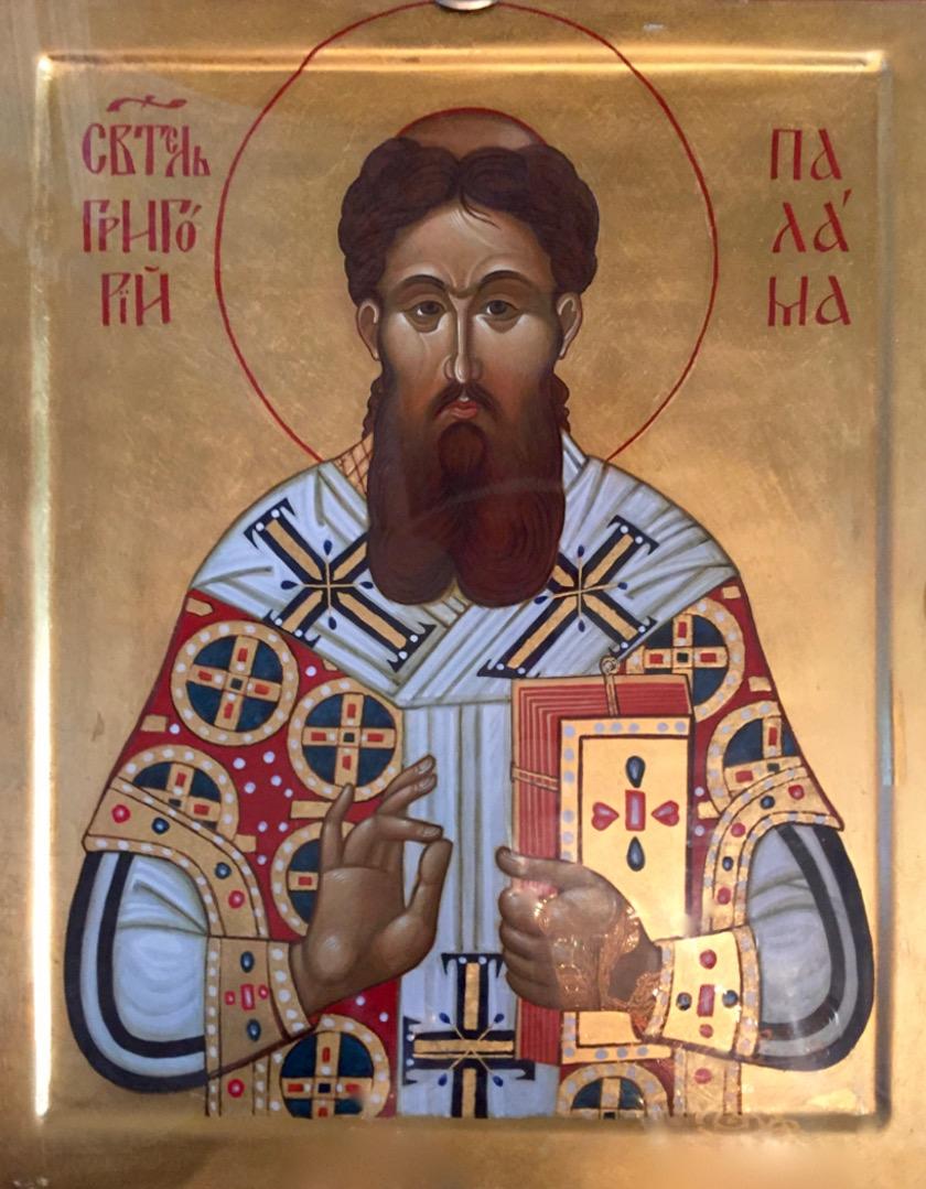 Ikona św. Grzegorza Palamasa w lubelskiej cerkwi katedralnej