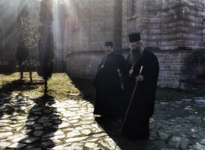 WŁADYKA ABEL I METROPOLITA GEORGIOS W MONASTERZE ŚW. DIONISOSA