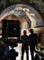 We wnętrzu cerkwi Niewiast Niosących Wonności
