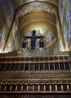 Ikonostas w katedrze pw. Zaśnięcia Bogarodzicy w Cluj-Napoca