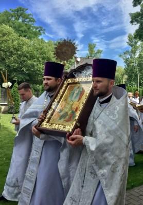 Uroczysta procesja na święto Przemienienia Pańskiego w lubelskiej katedrze