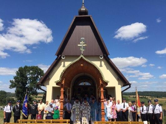 Uczestnicy uroczystości w Wólce Kraśniczyńskiej