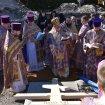 Położenie kamienia węgielnego pod monasterską cerkiew w Turkowicach