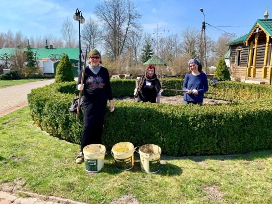 Wiosenne porządki w monasterze św. Onufrego