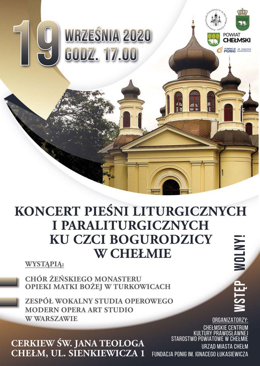 Koncert Pieśni Liturgicznych i Paraliturgicznych ku czci Bogurodzicy w Chełmie