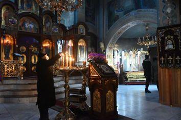 Czytane Wielkiego Kanonu św. Andrzeja z Krety w cerkwi św. św. Braci Cyryla i Metodego w Białej Podlaskiej