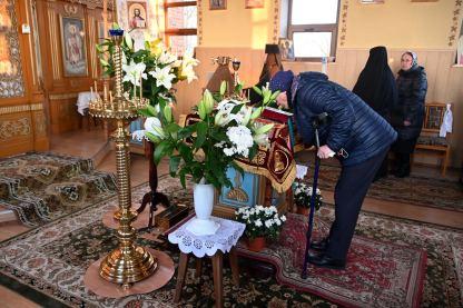 Wieczernia Wielkiej Soboty w cerkwi św. Michała Archanioła w Holeszowie