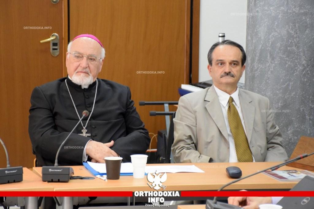 """ΟΡΘΟΔΟΞΙΑ INFO Ι Τιμητική εκδήλωση για τον """"εργάτη της χριστιανικής καταλλαγής"""" Αρχιεπίσκοπο Καθολικών Ιωάννη"""