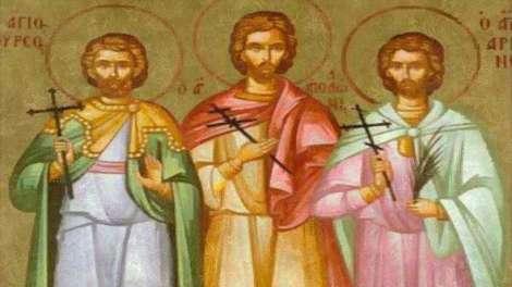 Ορθόδοξος Συναξαριστής 14 Δεκεμβρίου, Άγιοι Θύρσος, Λεύκιος και Καλλίνικος