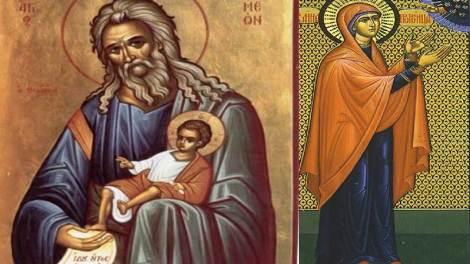 Ορθόδοξος συναξαριστής 3 Φεβρουαρίου 2018, ο Δίκαιος Συμεών ο Θεοδόχος και Άννα η Προφήτιδα